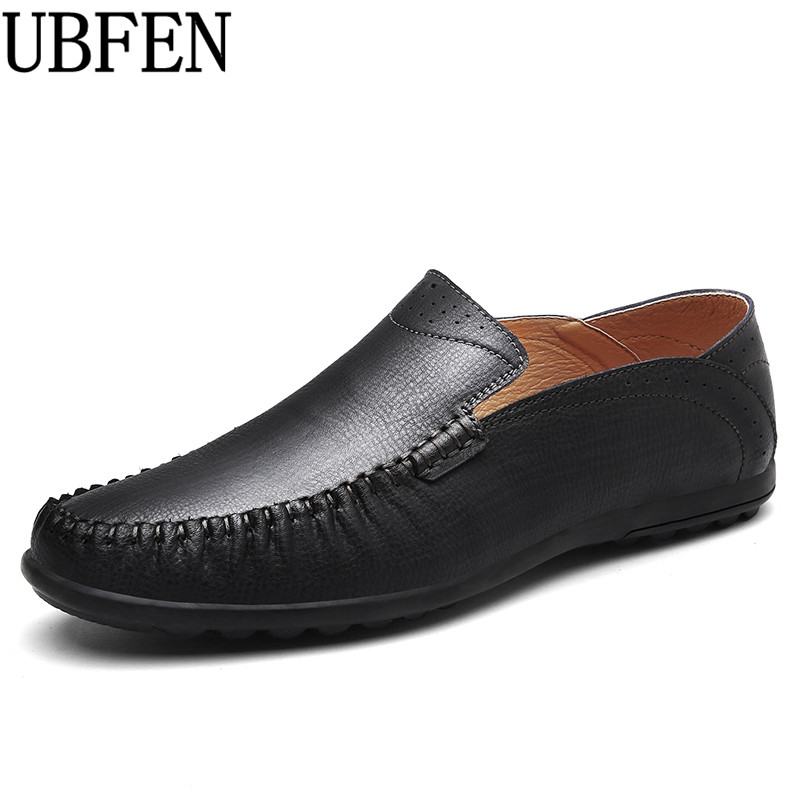 UBFEN 2017 Hot Spring/Autumn Men Casual Shoes Split Leather Loafers Fashion Handmade Moccasin Flats Driving Male Shoes 2017 new comfortable casual shoes loafers men shoes quality split leather shoes men flats hot sale moccasins shoes