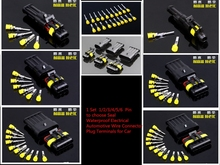 30/60 Sets Superseal AMP Tyco 1.5 Kit 1/2/3/4/5/6 Pin Female Male Waterproof Electrical Wire Cable Automotive Connector Car Plug