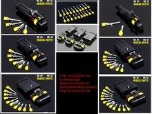 AMP Tyco Juego de enchufes impermeables para coche, Kit de enchufes macho y hembra de 1/2/3/4/30/60 Pines, Cable Eléctrico, 1,5 juegos, Conector automotriz