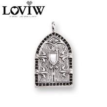 Vogue Openable Door with Crow Raven Lily Design Pendant Pendant Bijoux Jewelry Gift For Women \u0026 Men CH62