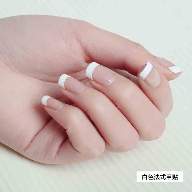 100PCS White French False Nail Acrylic Nail Tips 10 Sizes Artificial ...