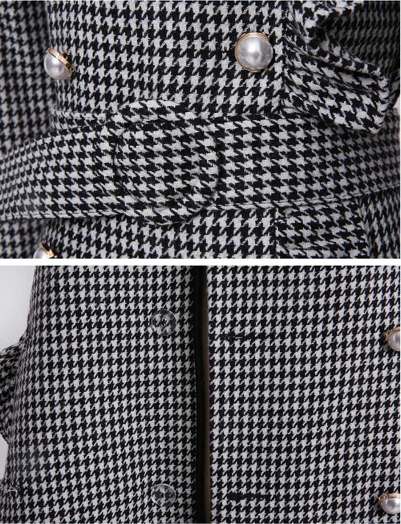 Женские офисные открытые Хип упаковке v-образным вырезом платье Для женщин Элегантный сращивания модные до колена vestidos mujer рождественские платья