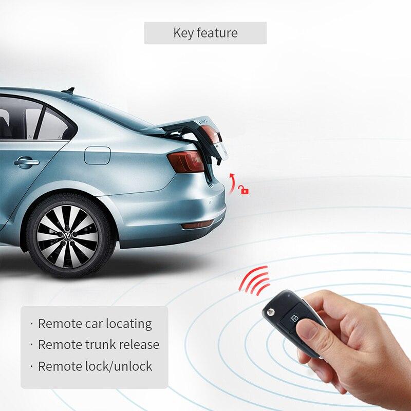 EASYGUARD компания Универсальный Автозапуск система с светодиодный свет ключи для удаленной блокировки автомобиля закрыт