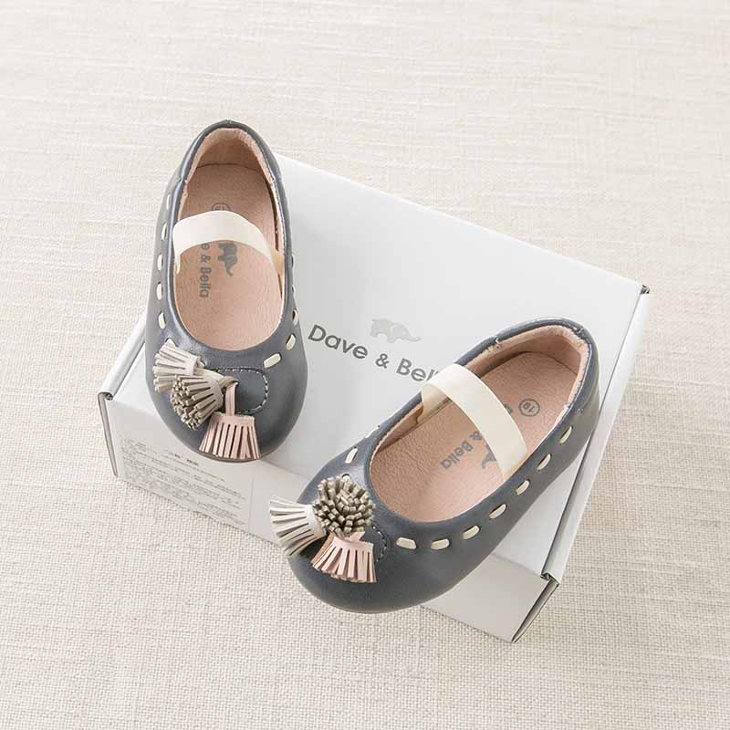 DB6741 Dave Bella autumn baby girl leather shoes children brand shoes