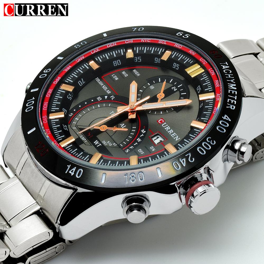 Prix pour Curren montre en or hommes montres 2017 top marque de luxe célèbre mâle horloge curren montres prix hodinky quartz-montre relojes hombre