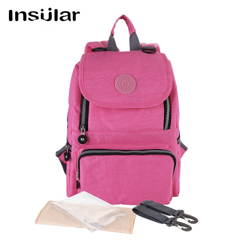 Insular Multifunction Baby Care Diaper Bags Mother Maternity Bag Backpack Waterproof Nappy Changing Stuff Storage Organizer