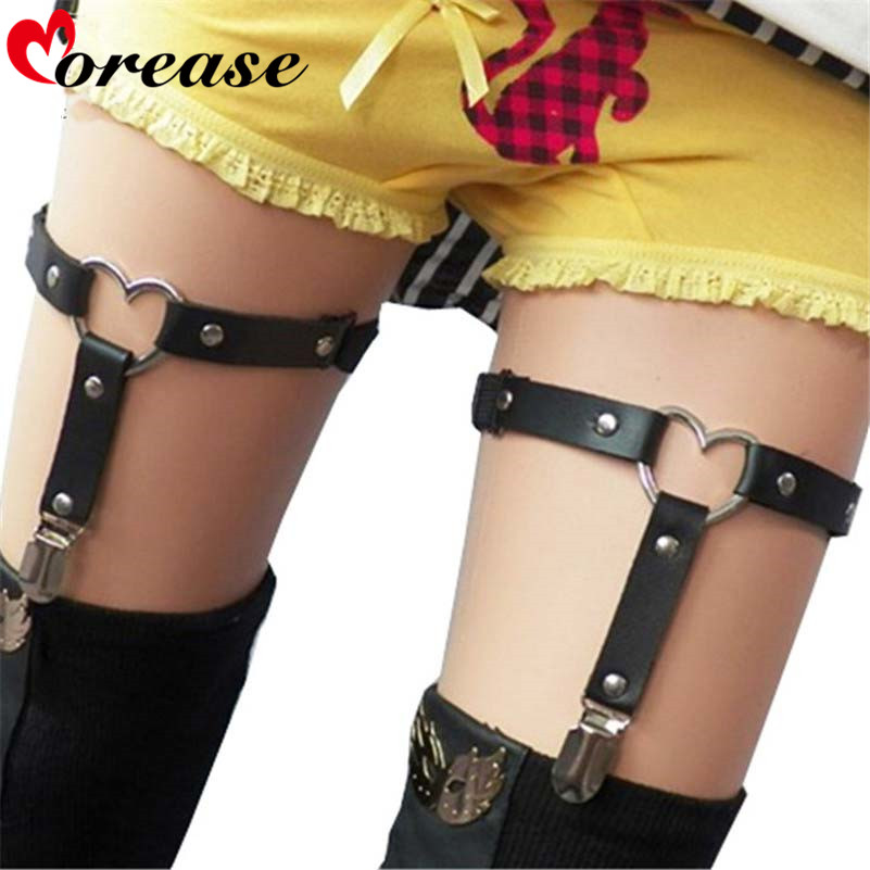 Morease 1pc Adult Game Punk Knee Leg Garter Belt Gothic Sexy Chain Fetsih Erotic Slave BDSM