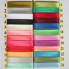 """15 мм(5/"""") Ширина полиэфирная атласная проглаженная Однослойная косая Привязка/косая лента для одежды стеганое одеяло ткань для шитья и рукоделия"""