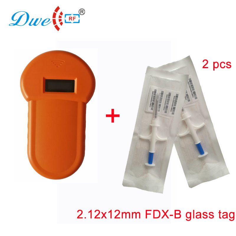 DWE CC RF access control card reader pets microchip scanner orange FDX-B glass tag readers
