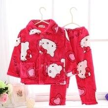 Enfants de noël pyjamas Filles Hoodies Vêtements Costume roupas infantis menina À Manches Longues Pyjamas Set vêtements de Nuit Pour Enfants Pyjama