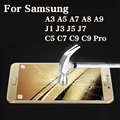 2017 Ультра Тонкий 0.26 мм 9 9н Премиум Закаленное Стекло Защитная Пленка Для Samsung Galaxy J3 J5 J7 A3 A5 A7 A8 A9 C5 C7 C9 Pro