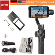 Zhiyun Smooth Q Smooth 4 3 Axis Gimbal Steadicam Stabilizer for iPhone X 8 Gopro Hero 5 SJCAM SJ7 Xiaomi Yi 4k action camera(China)