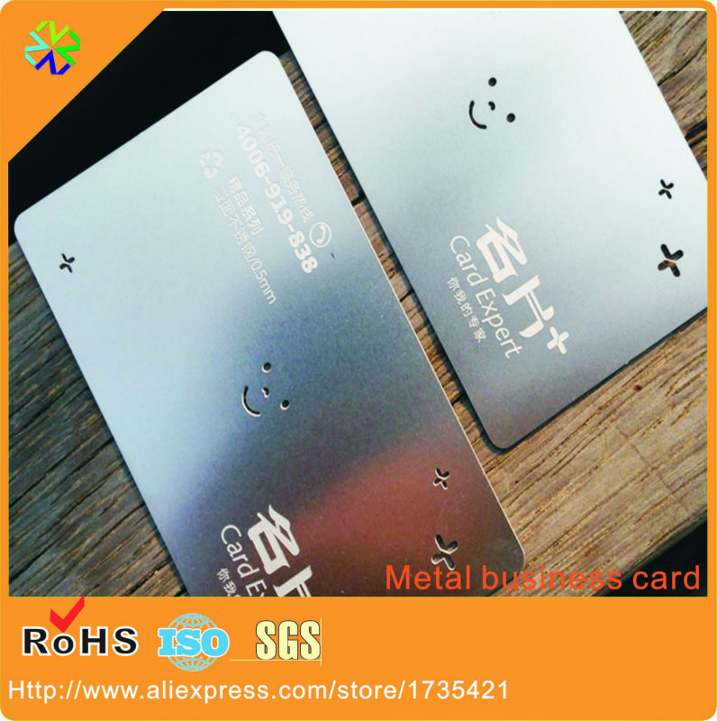 Credit Card Size 0.3mm Thickness Smiling Logo Cutting