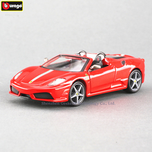 Bburago 1:32 Ferrari Spider 16M High-imitation Car Model Die-casting Metal Toy Gift Simulated Alloy Collection
