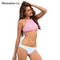 Minimalism Le Sexy Checkered Bikini 2017 New Women Swimsuit Push Up Bikini Set Beach Wear Retro