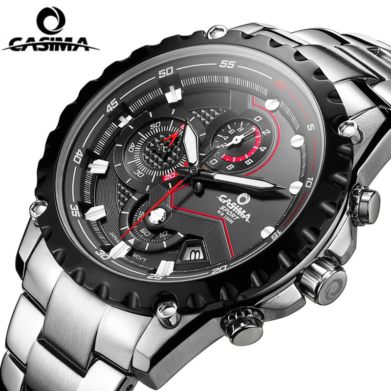 CASIMA Luxury brand fashion watches men charm luminous sport multi-function quartz wristwatch male Sapphire Mirror casual Clock