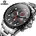 CASIMA marca de Luxo da moda relógios homens charme esporte luminosa multi-função Espelho Safira de quartzo relógio de pulso masculino Relógio ocasional