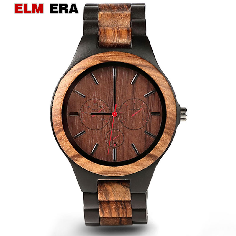 Montre homme créative bois homme mode sport de luxe hommes montres Relojes Para Caballero Relogio Masculino
