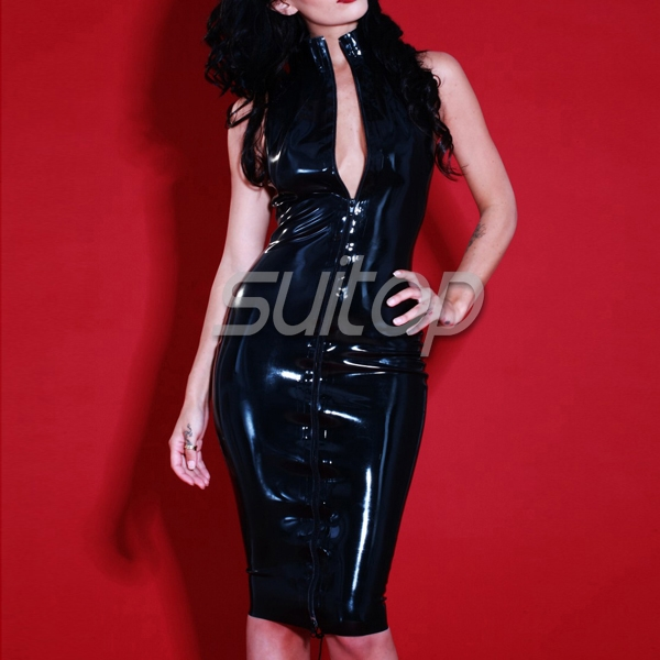 Latex Rubber Laced Flash Back Dress sexy