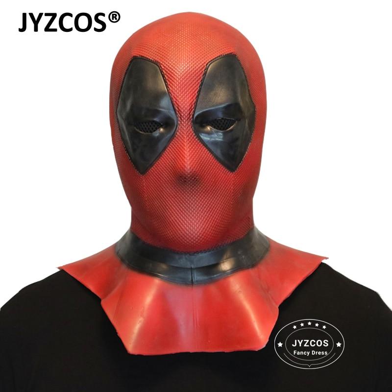 JYZCOS Adult Deadpool 2 Marvel Deadpool Masks Halloween Cosplay Costume Props Full Face Mask Helmet