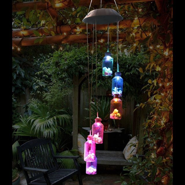 LED Color-Changing Wind Chime Solar Light 4