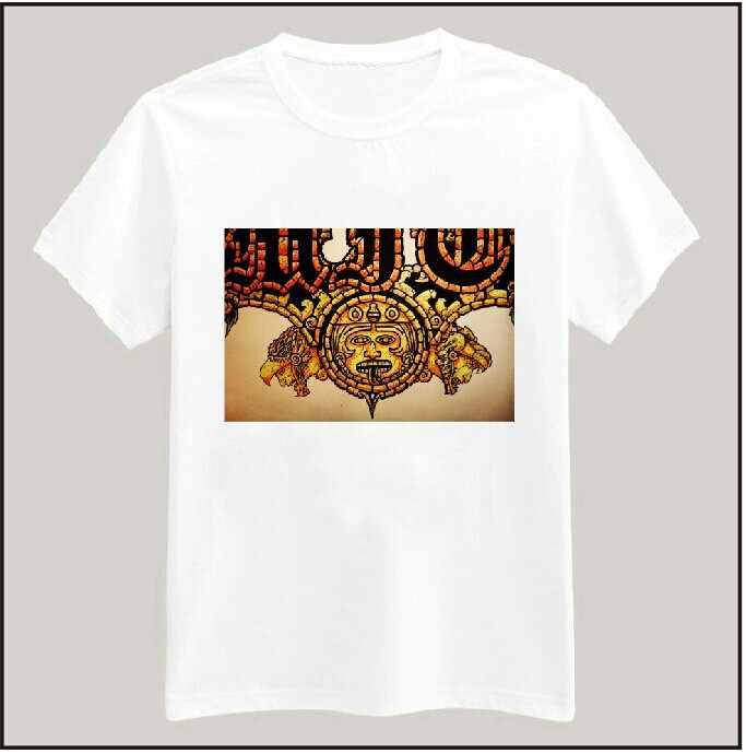 Frauen T-shirt Aztec Muster Drucken Beiläufige Baumwolle Lustige Weiß Top T Hipster Plus Size Camiseta HH305-339
