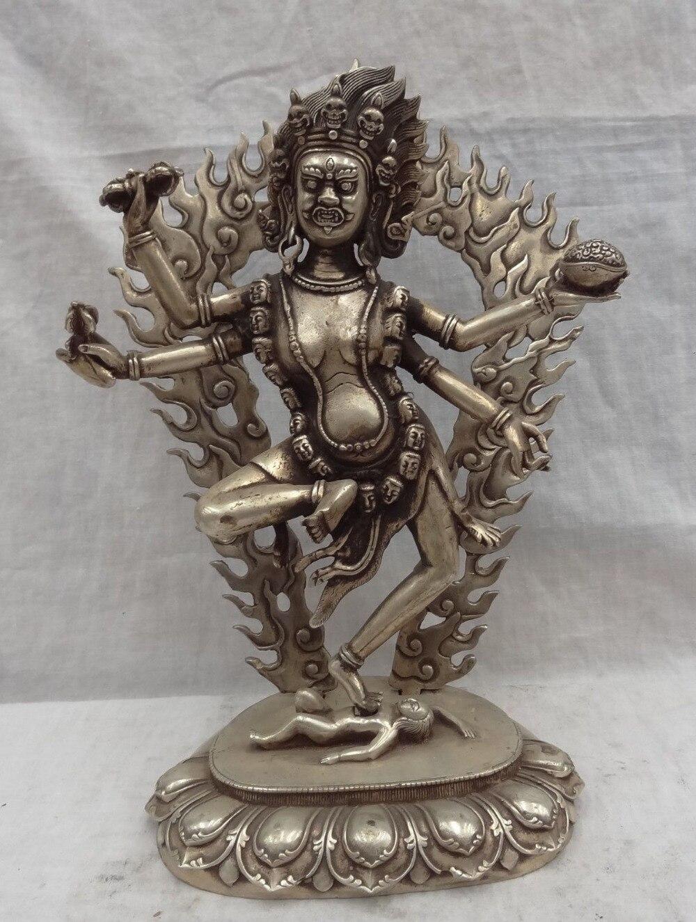 "xd 002064 13"" Chinese Buddhism Vajra Joss Bronze 4 Arms Vajrapani Buddha Statue statue statues buddha statue bronze - title="