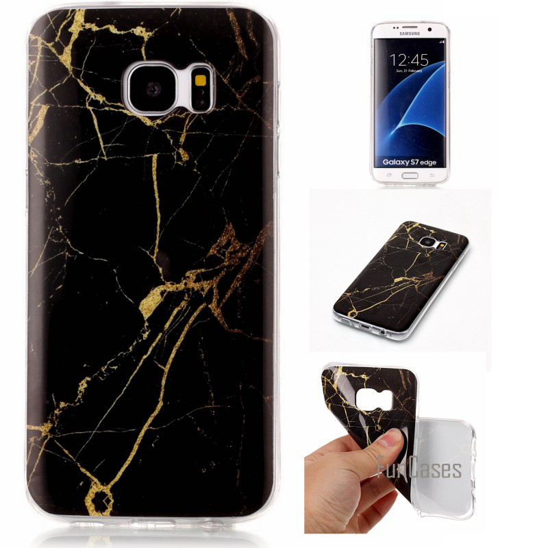 For Samsung Galaxy S8 Plus S7 Edge S6 S5 S4 S3 Case Cover Soft Silicone Shell Coque Capinha Etui Smooth Marble Rock Phone Cases