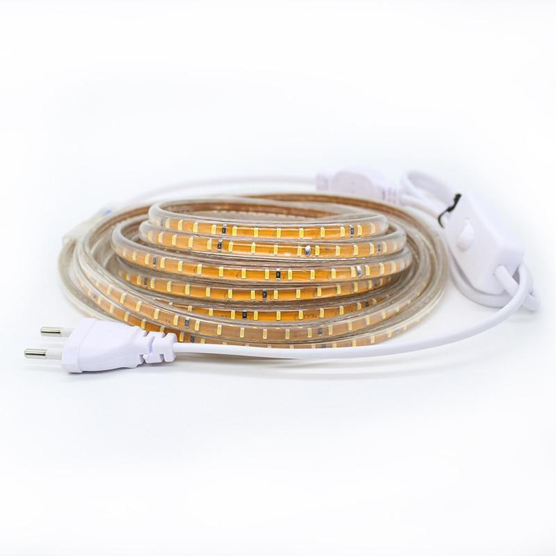 LAIMAIK LED Strip Lights Vattentät med ON / OFF switch AC220V - LED-belysning - Foto 2