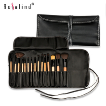 Rosalind Professional Makeup Tools 15 Pcs Soft Synthetic Hair Makeup Brushes Make up Kit Cosmetic Sets with Leather Case