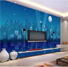 wallpaper city room promotion shop for promotional wallpaper citycustom 3d photo wallpaper mural living room simple city night scene 3d painting sofa tv background wall non woven sticker
