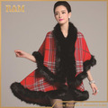 High Quality Autumn Winter Women's Long Cardigans Fake Fox Fur Collar Cashmere Sweaters Shawl Knitted Cardigan Poncho Cape
