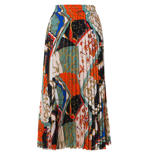 Image 3 - 2021 nowych moda wysokiej talii plisowana spódnica kobiety wiosna lato spódnice Midi kobiet w pasie linii długie spódnice dla kobiet Rok