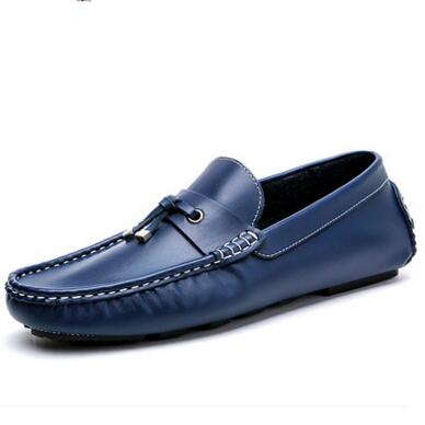 Spring/Autumn Fashion Men Loafers Moccasins Genuine leather Male soft outsole Flats Breathable Casual Driving Shoes 1.4 2017 new fashion summer spring men driving shoes loafers real leather boat shoes breathable male casual flats