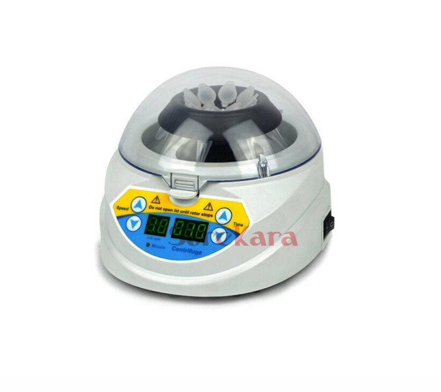 220VAC Microcentrifuge Mini-10K+ mini centrifuge 3000-10000RPM timer digital display safe цена