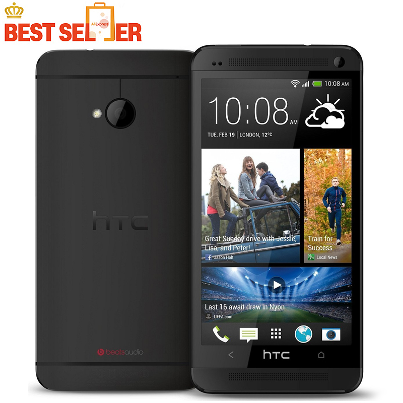 Unlocked 4G Smartphones One M7 801e 32GB ROM HTC Sense UI 5.0 Android Quad Core