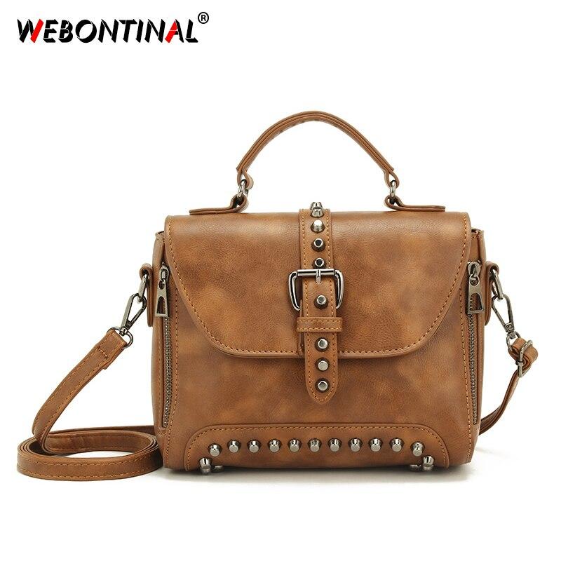 a2c03fdf1877 WEBONTINAL крышка сумки через плечо для Для женщин Курьерские сумки 2019  Винтаж кожаные сумки Сумки Для