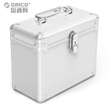 Orico BSC35 Aluminum 5 / 10 bay 3.5-inch Hard Drive Disk Protection Portable Box Storage with Locking Silver (No Hard Disk)