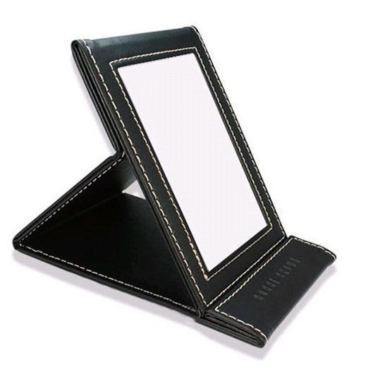 1pc BB Style In Folding Beauty Portable Makeup Mirrors Make Up Women Light Pocket Desktop Brand Mirror Chocolate Free Shipping