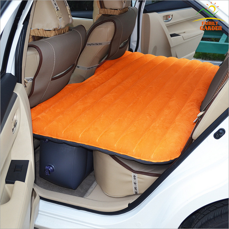 Inflatable Orange Car Cushion Air Bed Bedroom Inflation