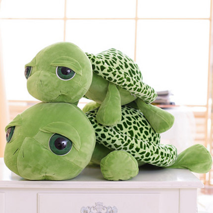 Cute Animal Soft Stuffed Plush Toys Green Big Eye Turtle Plush Toy Turtle Doll Turtle Kids As Birthday Gift For Children 70C0060 original cinderella bad cat lucifer big soft plush toy doll birthday gift limited collection children gift
