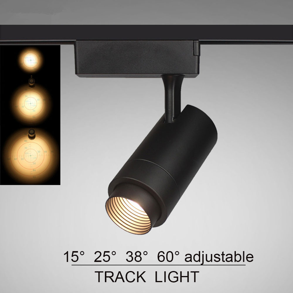 Track Light Rail Spot COB LED Ceiling Spotlight For Clothes Shoes Shop Store Showroom Mall Exhibition Fixture Track Lighting led track light 20w 2100lm cob ceiling rail light spotlight lamp 110v 240v warm cold white for store shopping mall