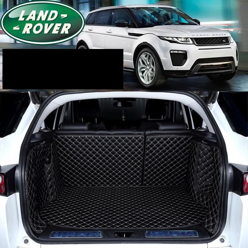 Lsrtw2017 in pelle in fibra di stuoia del tronco auto per Range Rover Evoque 2011 2012 2013 2014 2015 2016 2017 2018 2019