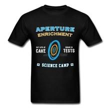 T Shirts Men Aperture Science Camp 100% Cotton New Color T Shirt Bra Men Short Sleeve Create T-Shirt