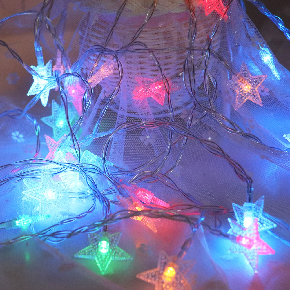 LED Garlands Lights Shining Stars Light String 6M 40 LEDs Princess - Festlig belysning - Foto 5
