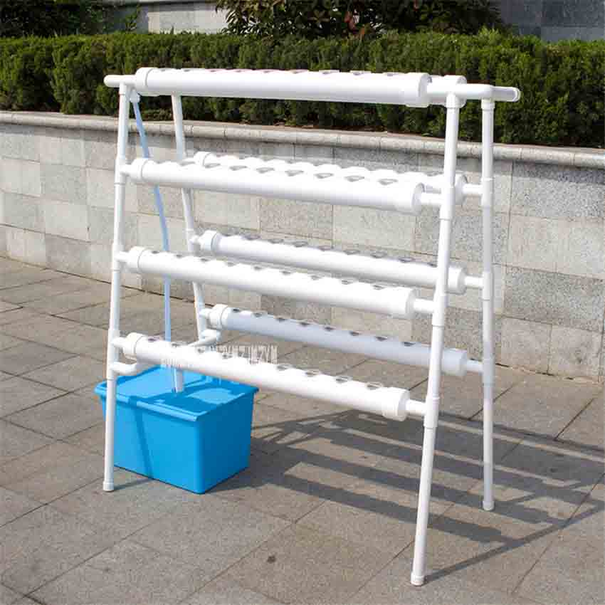 Hydroponics System Double-sided Ladder Type Soilless Vegetable Cultivation Equipment Balcony Pipeline Hydroponic Planting Rack