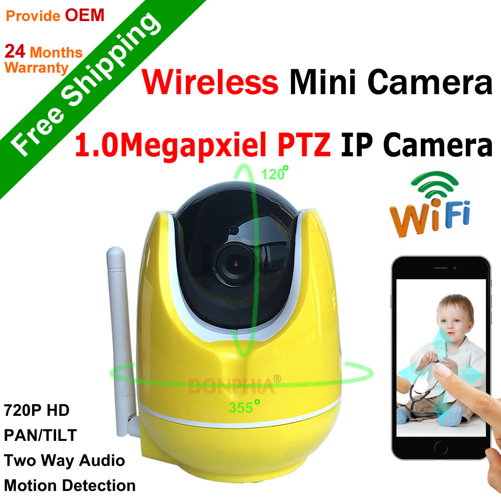 ФОТО New! 1280x720P PTZ IP Camera 1.0MP Wifi IP Camera Two Way Audio Baby Monitor Pan Tilt Security Camera Easy QR CODE Scan Connect