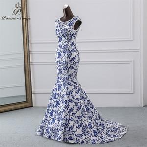 Image 2 - Gedichte Songs 2019 China abendkleid blau blume elegante party kleid meerjungfrau kleid abendkleid robe longue soiree