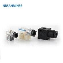 10 шт./лот разъем соленоидного клапана DIN43650 A/B/C соленоидная катушка соединитель для клапана соленоидная катушка соленоидный соединитель