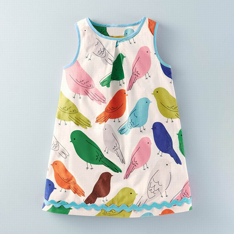 d05430761a41f US $3.59 10% OFF|Little maven 2 7Years Summer Dress For Girl Princess  Costume Children's Kids Toddler Floral Animal Vestidos Elegant Frocks  Dress-in ...